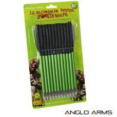 6.5 inch aluminum pistol crossbow bolts 1 Pack of 12 Zombie Green