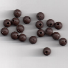 6mm SOFT RUBBER SHOCK BEADS FOR RIGS & STOPS MUD BROWN Pack of 20 approx (made in uk)