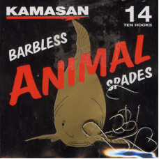 Kamasan Animal Barbless Spade End Hooks Size 14