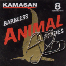 Kamasan Animal Barbless Spade End Hooks Size 8