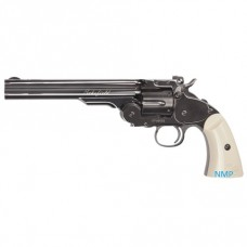 ASG Schofield Revolver 4.5mm BB 12g Co2 6 inch Steel Grey Finish with Ivory effect Grip 6 shot BB