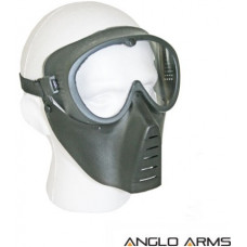Airsoft BB Gun Face Mask with Plastic Front Aviator