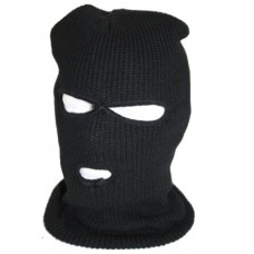 Fleece Lined Balaklava with Eye and Nose Portal Black