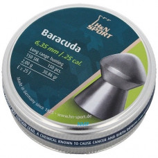H&N Sport Baracuda Pellets 6.35mm .25 Calibre 30.86 grain Tin of 150