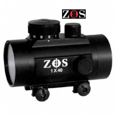 1 x 40RD RED DOT ZOS Fits Weaver Rail