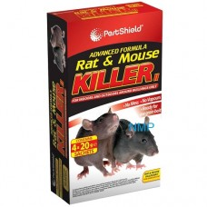 Pestshield Advanced Formula Rat & Mouse Killer 4 x 20g Refill Sachets