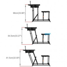 AirForceOne RuggedBench Bench, Seat Combination folding shooting seat, table