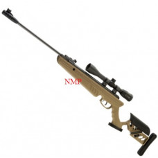 SWISS ARMS TG1 TACTICAL STOCK breack action AIR RIFLE TAN (5.5MM) .22 calibre air gun pellet with 4 x 40 scope