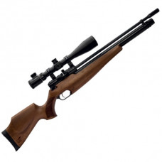 Webley Raider 12 Classic PCP Air Rifle, Ambi-Dextrous Walnut Wooden Stock 12 Shot .22 Calibre