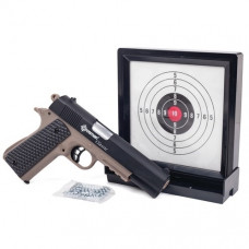 Crosman Classic 1911 Pistol Kit Spring powered single shot 4.5mm bb pistol with sticky target & 250 BBs