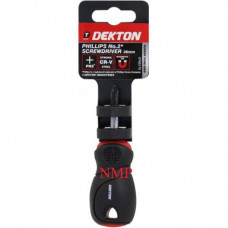 DEKTON PHILLIPS No2 SCREWDRIVER 38MM (stubby)