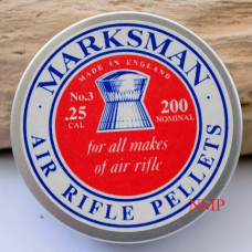 Marksman Round Head .25 calibre Air gun Pellets 19.20 grains Tin of 200