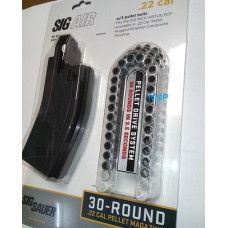 30 Round .22 MCX Virtus Spare Magazine with 3 x 30 shot pellet belts by Sig Sauer