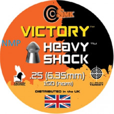 VICTORY HEAVY SHOCK ROUND .25 Calibre Air Gun Pellets 32.5 grains tin of 150